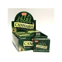 Original Hem Cannabis Incense 12 x 10 Cone, 120 Cones Dragons Blood NEW