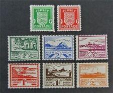 nystamps Great Britain Jersey Stamp # N1-N8 Mint Og H $41