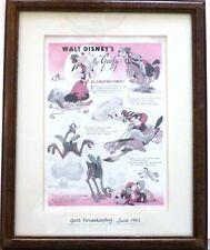 """EL GAUCHO GOOFY"" ~ Walt Disney Co. ~ Good Housekeeping June 1942 ~ Framed"