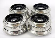 Lot 4 pieces silver color Soviet Lens INDUSTAR 50 3,5/50 M39 SLR USSR