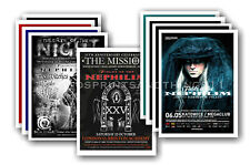 FIELDS OF THE NEPHILIM - 10 promotional posters  collectable postcard set # 2