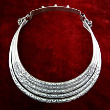 Stylish fashional original tribal hand-carved Miao silver 5rings necklace 1piece
