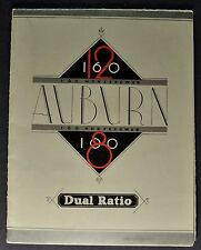 1932 Auburn Sales Brochure Folder Model 8-100 12-160 Excellent Original 32