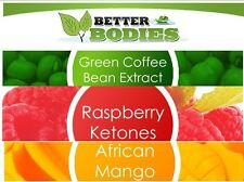 RASPBERRY KETONES GREEN COFFEE BEAN EXTRACT KETONE AFRICAN MANGO DIET SLIM PILLS