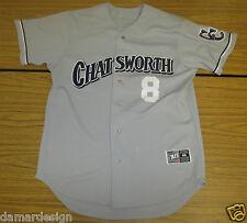 GAME USED Mike MOUSTAKAS Era CHATSWORTH High School BASEBALL Jersey #8 Size 46 L