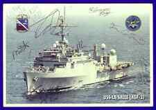 1995 Photo Card USS LA SALLE AGF-3 US Flagship Middle East Force AUTOGRAPHS