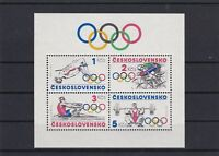 Czechoslovakia 1984 Olympics Mint Never Hinged Stamps Sheet Ref 26124