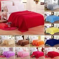 Warm Soft Throw Plush Flannel Velvet Blanket Home Sofa Bed Cover Fleece Large