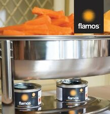 4 x Flamos Ethanol Gel Chafing Dish Fuel 3 Hour Can Catering BBQ Buffet Camping