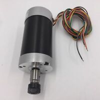 CNC 500W Air-Cooling Spindle Motor 24VDC 55MM Brushless ER11 600mN.m 12000r/min