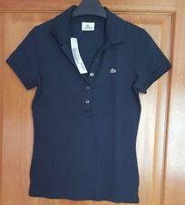 Ladies LACOSTE Navy Blue Polo Shirt T-Shirt Size EU 38 / UK 10