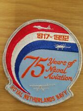 1917-1992 75 Years of Naval Aviation Royal Netherlands Navy Patch Military