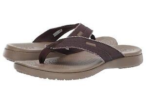 Man's Sandals Crocs Santa Cruz Canvas Flip