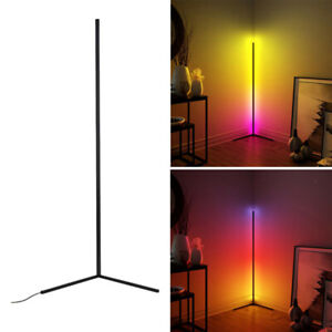LED Floor Lamp RGB Colorful Remote Corner Standing Lamp for Home Office Decor A
