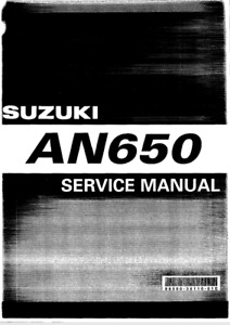Suzuki Burgman 650 AN650 E BOOK Service Manual 2004-2011 *** SPECIAL OFFER ***