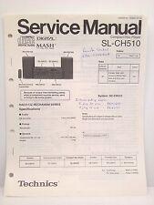Technics Original Service Manual SL-CH510 Compact Disc Player