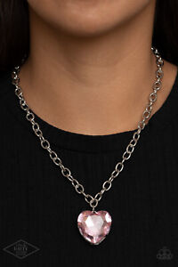 Kiss Love Valentines Day Pink Lip Necklace Antique Guitar Jewelry Music Pendant