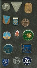 ISRAEL COLLECTION OF 14 DIFFERENT BADGES / PINS
