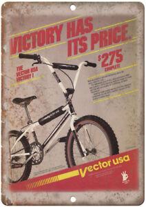 "Vector USA Victory BMX - 12"" x 9"" Metal Sign - Vintage Look Retro Look B81"