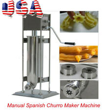 Us Brand New 5L Stainless Steel Commercial Manual Spanish Churro Maker Machine