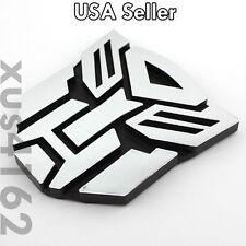 3D Chrome Autobot 3 Inch Transformers Emblem Badge Decal Car Stickers Truck