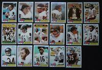 1981 Topps Chicago Bears Team Set of 17 Football Cards