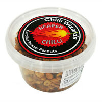 Carolina Reaper Chilli Peanuts - Hot as Hell Seasoned Peanuts 250g Tub