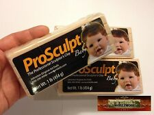 M00151x3 Morezmore 3 lb Prosculpt Baby Flesh Professional Doll Polymer Clay T20A