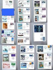 Lot de 24 enveloppes premier jour FDC Poste Aérienne France (voir liste)