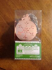 HOLIDAY TIME WARM WHITE METAL ORNAMENT LIGHTS LED BATTERY OPERATED 4FT