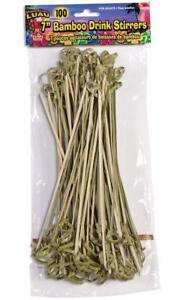 Bamboo Tropical Luau Summer Beach Pool Theme Party Favor 100 ct. Drink Stirrers