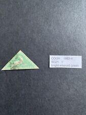 COGH 1863 Sg 21 1' Bright Emerald Green FU Stamp