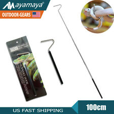 New listing Telescopic Reptile Snake Hook Catcher Stick Pocket Collapsible Tong Handle Tool