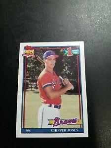 Topps 1991 Chipper Jones Atlanta Braves #333 Baseball Card