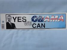 """OBAMA """"Yes We Can"""" BUMPER STICKER style 10.5"""" x 3"""" VINYL DECAL by Rico NEW!"""