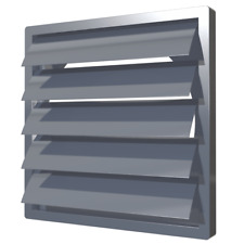 Grey Vetilation Duct Gravity Flaps with Flange Duct Wall Cover Air Vent Grille