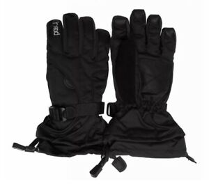 Head Boy's DuPont Sorona Insulated Ski Glove With Pocket, M 6-10 - Black *NEW*