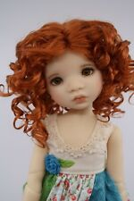 Monique Rebecca Wig Carrot Red Size 6-7 YoSd Bjd shown on My Meadow Avery