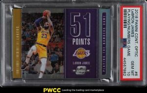 2018 Panini Contenders Optic Playing the Numbers Prizm LeBron James #6 PSA 10