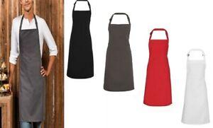 Premier Men's Polyester Apron Catering Chef Self Fabri Neck Long Tie Apron New
