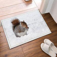 Door Mat Bathroom Rug Bedtoom Carpet Bath Mats Rug Non-Slip Squirrel and snow