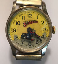 Vintage 60s Superman Watch Flying SuperHero Second Hand Swiss Made