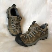 KEEN Women's NO SIZE Leather Waterproof Hiking Trail Shoes Dry Event Brown 7 7.5