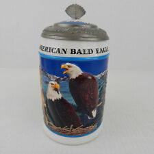 1999 Anheuser Busch Stein American Bald Eagle Series Spring Lidded Cs365 Ceramic