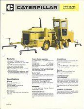 Equipment Brochure - Caterpillar - PR-275 - Pavement Profiler - c1984 (E4482)