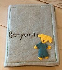 "New! Chasing Fireflies Felted Wool ""Benjamin� Personalized Photo Album, Puppy"