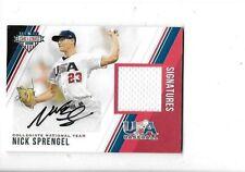 2018 Stars & Stripes USA Nick Sprengel 196/299 Autograph Jersey Signatures