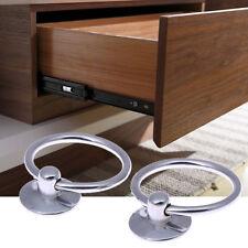 2pcs Round Pull Drop Ring Metal Stainless Steel Handle Door Drawer Handle Knob