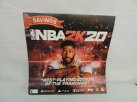 NBA LAKERS 2K20 Promo Poster DOUBLE Sided Video Game Poster GAME ROOM