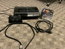 Sony PlayStation 3 PS3 80GB Black Console W/ One Controller & 7 Games - Tested
